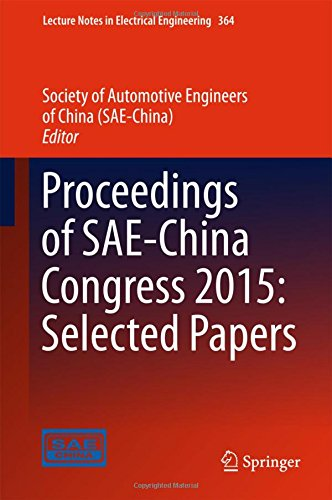 Proceedings of SAE-China Congress 2015: Selected Papers (Lecture Notes in Electrical Engineering)