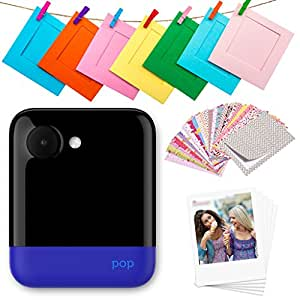 "Polaroid POP 2.0 – 20MP Instant Print Digital Camera w/3.97"" Touchscreen Display, Built-In Wi-Fi, 1080p HD Video, ZINK Zero Ink Technology & NEW App – Prints 3.5"" x 4.25"" Classic Border Photos - Blue"