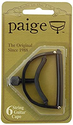 PAIGE. P6E 6-String Guitar Capo - Black from PAIGE.