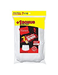 Hanes Boys` TAGLESS 7-Pack White Briefs