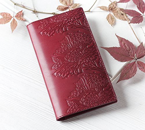 Tooled Leather Checkbook Cover - 7