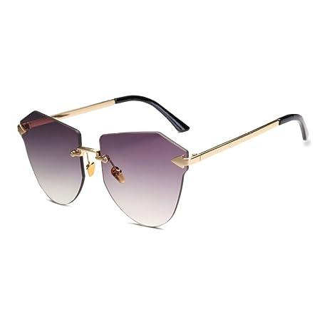 Yangjing-hl Gafas de Sol Moda sin Marco Personalidad ...