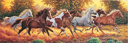 Clementoni Panoramic Horses Puzzle (1000-Piece)