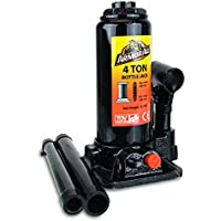 Armor All 4 Ton Hydraulic Bottle Jack Mechanical Lift With Collapsible Handle Heavy Duty, For Cars