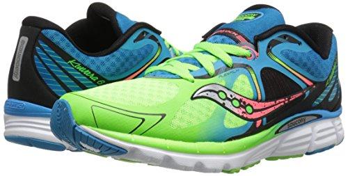 Saucony-Mens-Kinvara-6-Running-Shoe-BlueSlimeCoral11-M-US