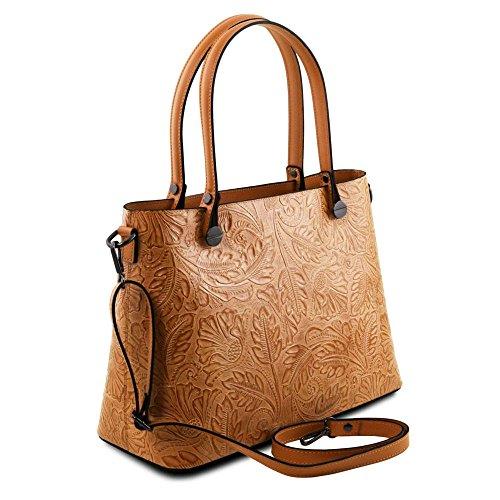 Tuscany Leather TL141655, Borsa a spalla donna Marrone marrone compact