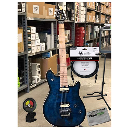 Peavey HP2 - Moonburst Electric Guitar w/Case, Polish Cloth, Cable, Stand and T