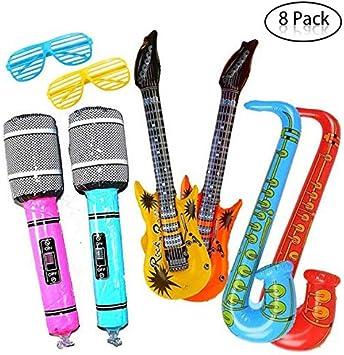 Yojoloin Súper Gigante 8 UNIDS Jumbo Inflables Guitarra Saxofón ...