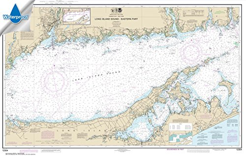 Paradise Cay Publications NOAA Chart 12354: Long Island Sound Eastern part 29.9 x 47.1 (WATERPROOF)