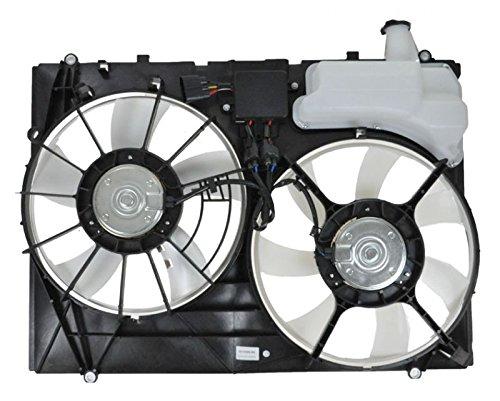 Dual Radiator Cooling Fan w/Module for 07-09 Lexus RX350