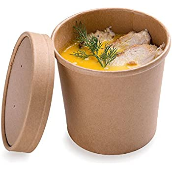 Amazon Com 200 Ct Disposable 12 Oz Bio Soup Container