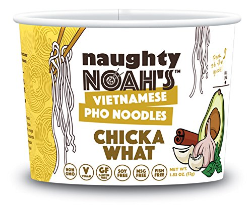 Naughty Noah's Vietnamese Pho Noodles   Chicka What Flavor (6-pack)   Vegan   Non-GMO   Noodle Bowl by Naughty Noah's