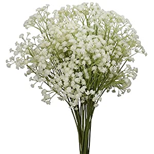 ODALISQUE Babys Breath Flowers Fake Plants 10pcs Gypsophila Bouquets Real Touch Artificial Flowers for DIY Home Party Wedding Garden Christmas Decoration 111