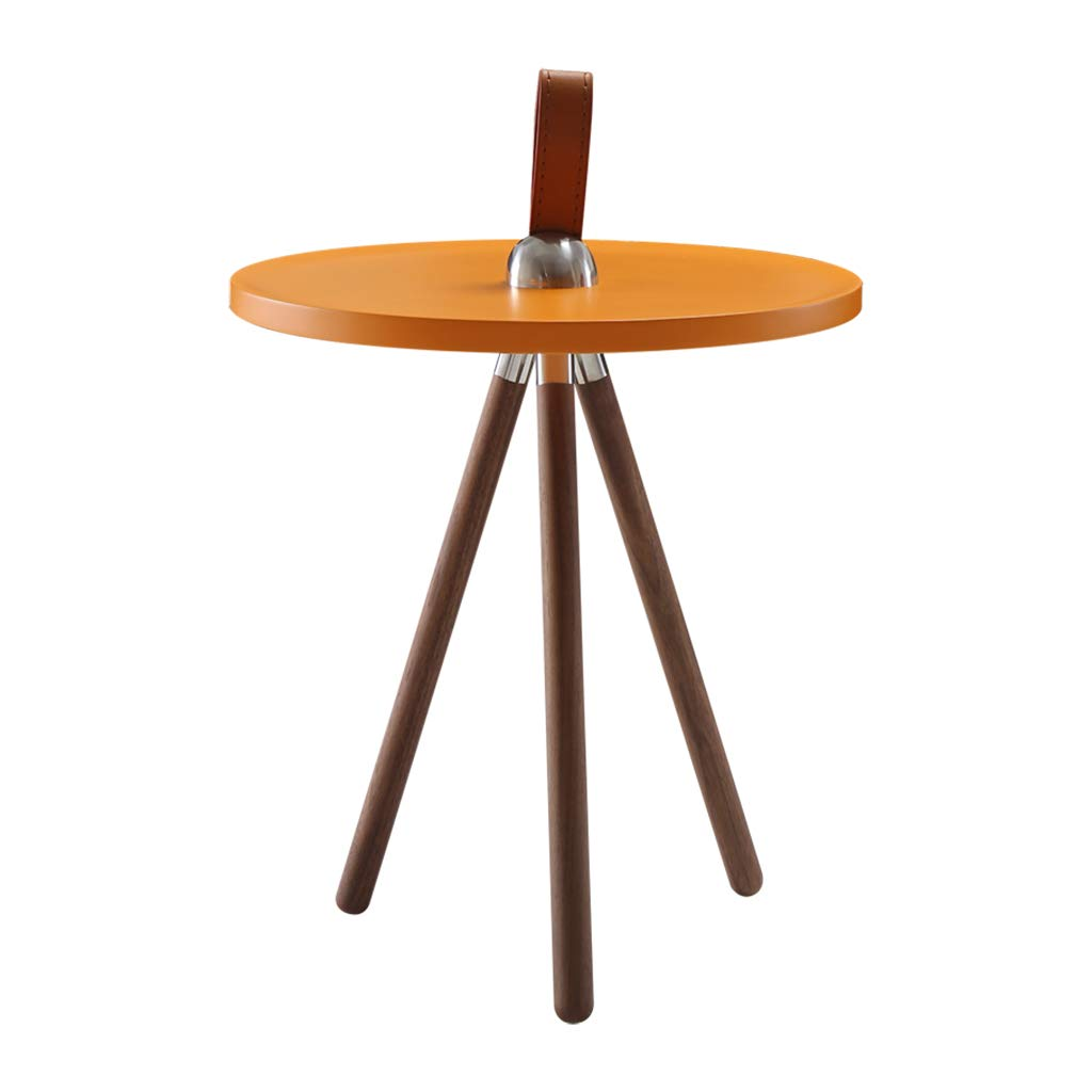 Coffee Tables Telephone Tables Phone Table Desk Magazine Table Bedroom Bed Small Desk Simple Modern Small Round Corner Nordic Sofa Side Metal Walnut Three Feet Console Table by Coffee Tables