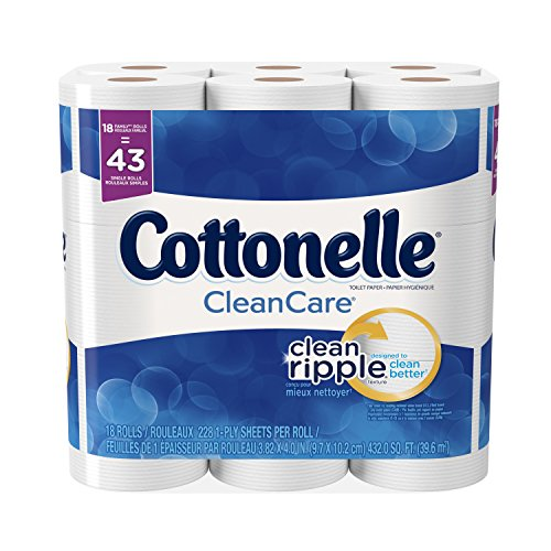 : Cottonelle CleanCare Family Roll + Toilet Paper, Bath Tissue, 18 Toilet Paper Rolls