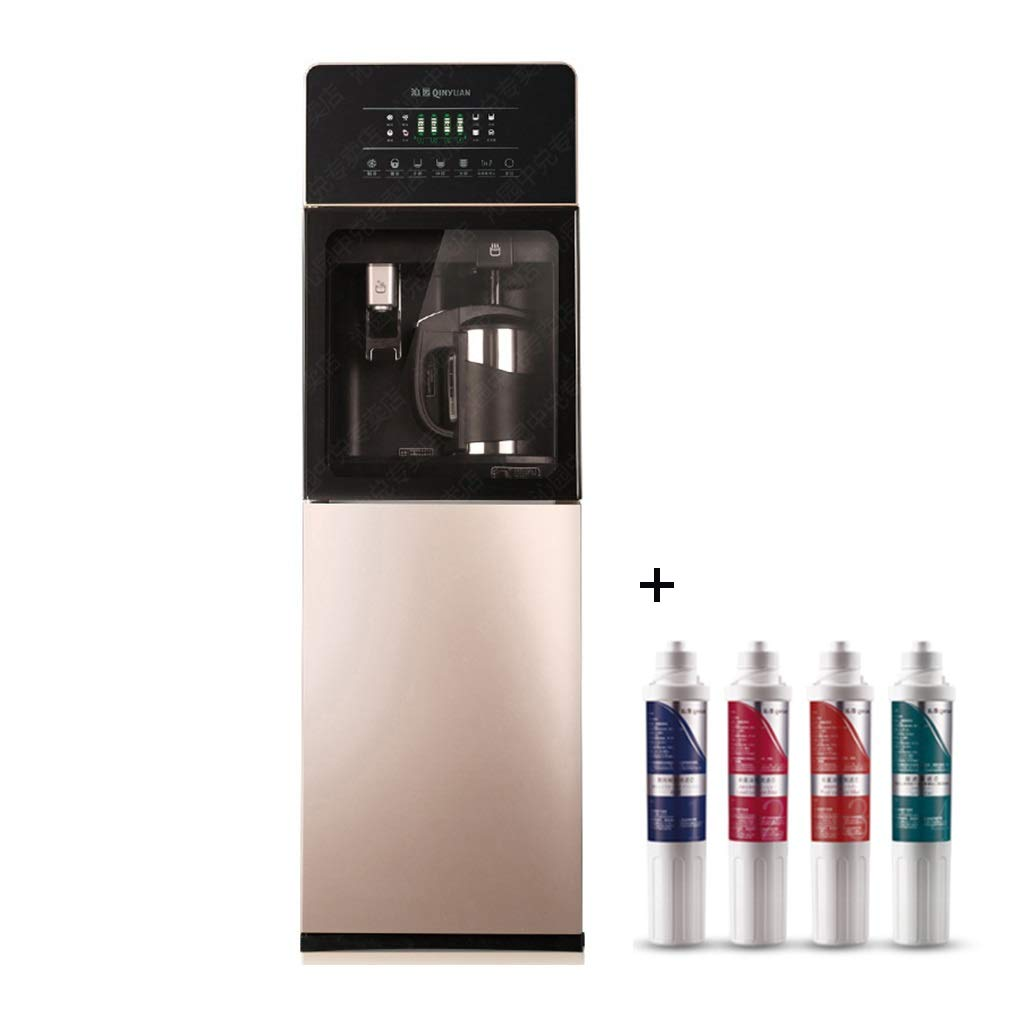 Shi xiang shop Freestanding Water Dispenser with Filter, Hot & Cold Water Dispensers with Water Filtration System, Top Water Tank and External Hoting Water Bottle