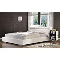 Coaster 300379Q Maxine Queen Storage Bed White Leatherette Upholstery