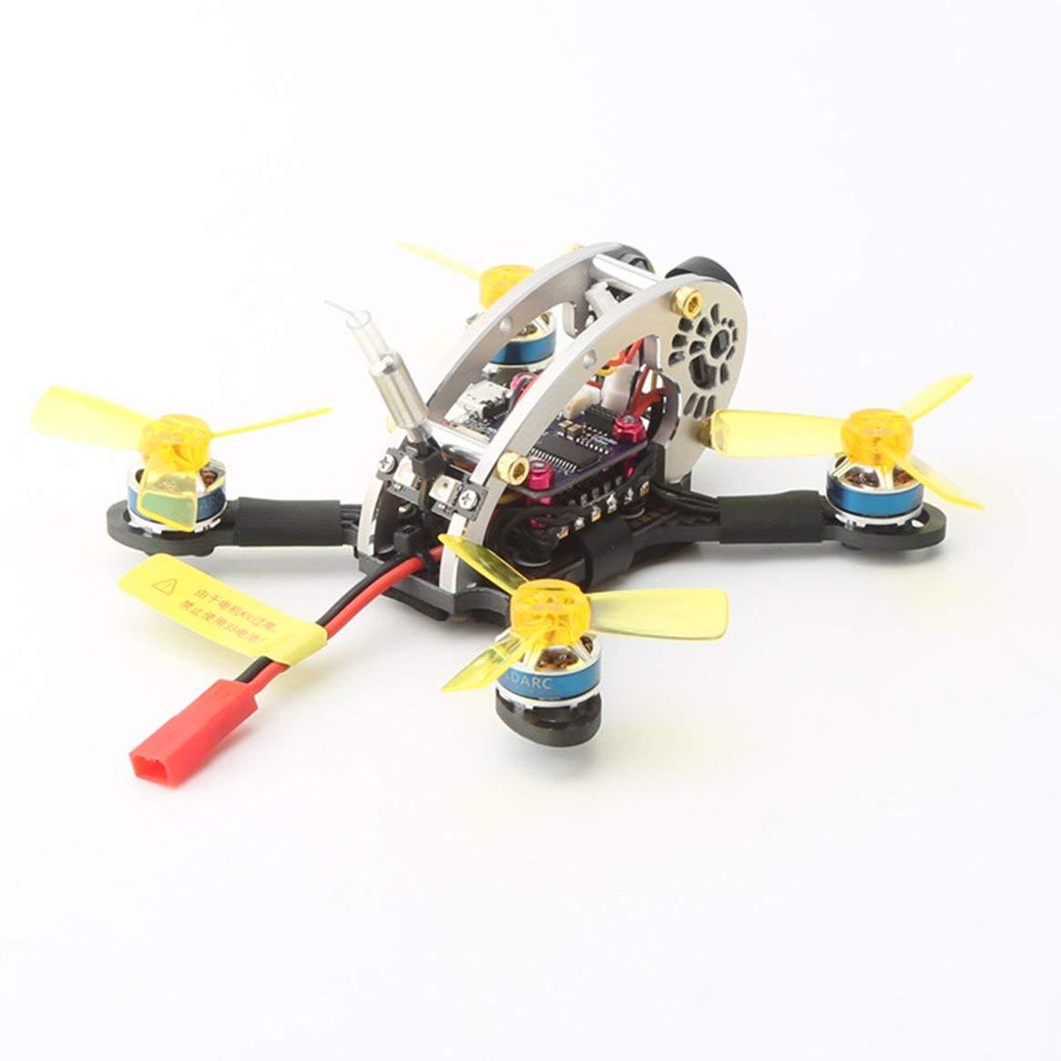 Delicacydex LDARC Flyegg 130 V2 5.8G Micro Mini Brushless FPV RC Racing Drohne Quadcopter mit RX2A PRO Empfänger VTX Kamera OSD PNP-Version - Schwarz & Gelb