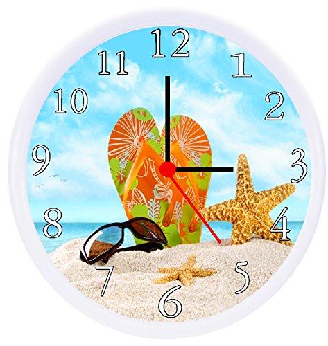Rusch Inc. Flip Flops Wall Decor Clock
