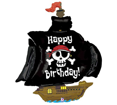 Betallic Pirate Ship Shaped Jumbo Foil Balloon -