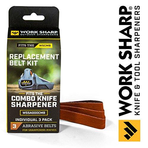 Work Sharp Official Combo Knife Sharpener Replacement Belt Kit - Knife Combo Pack
