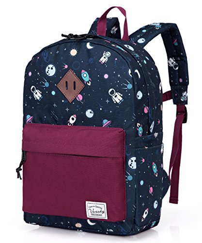 Preschool Toddler Backpack,Vaschy Little Kid Small Backpacks for Nursery School Children Boys and Girls with Chest Strap in Cute Astronaut]()