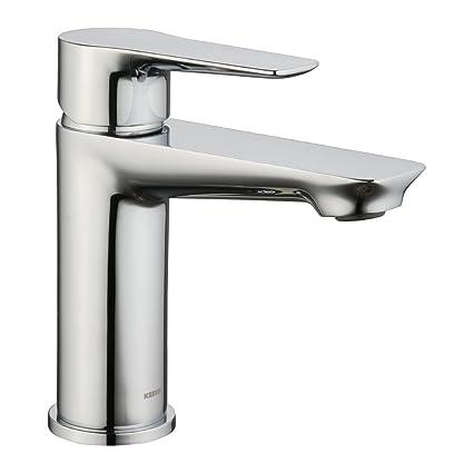 Keewi Premium Solid Brass Bathroom Faucet Chrome Single Handle Lead