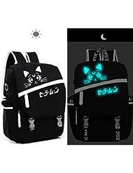 Lolita Style Sailor Moon Cat Luminous Backpack School Bag Laptop Bag