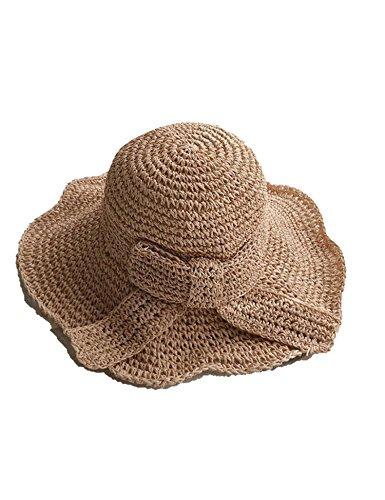 Summer Ladies Handmade Hats Sunscreen Sun Outdoor Folding Vacation Visor Beach ()