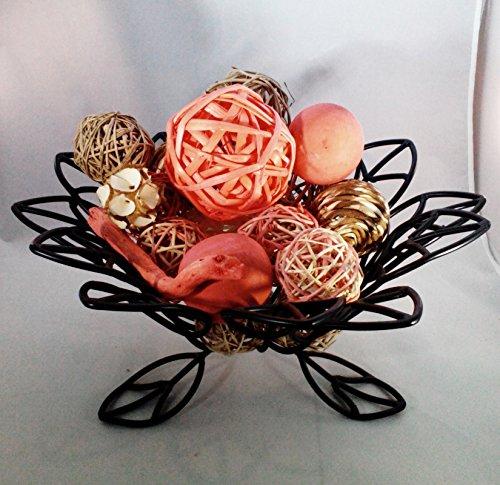 Jodhpuri Inc Coral Decorative Spheres Rattan Twig Balls Vase Bowl Filler (Bowl Not Included)
