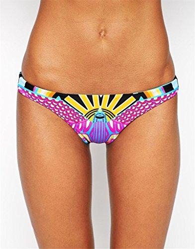 EVALESS Womens Halter Tankini Two Piece High Neck Bikini Pink Small Size