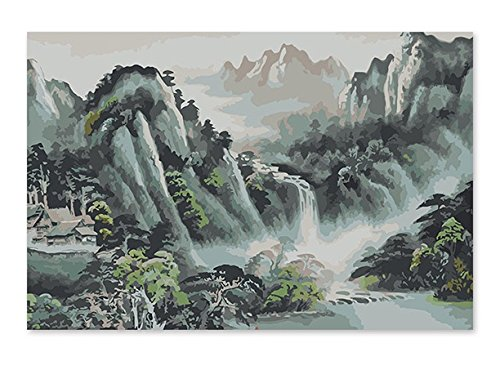 Diy Paint By Number Kits Acrylic Painting on Canvas For Adults Kids Beginner Wall Décor-Mountain 16x20inch
