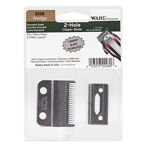 Price comparison product image Wahl Professional Wedge 2 Hole Standard Clipper Blade #2228 – Designed for the 5-Star Legend – Includes Oil, Screws, and Instructions.