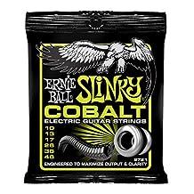 Ernie Ball P02721 Cobalt Regular Slinky Electric Guitar Strings, 0.01-0.046 Gauge
