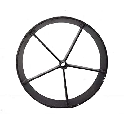 "Helotes Pits 12.75"" Steel Wagon Wheels for Barbecue Pit (1, 12.75) Single Wheel : Garden & Outdoor"