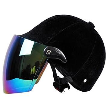 Casco de terciopelo xnpp cuatro estaciones Universal casco motocicleta coche eléctrico casco de seguridad Fashion –