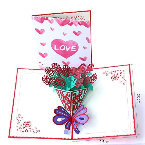 Paper Spiritz Thank You Christmas Postcard 3D Pop Up Laser Cut Wedding Birthday Greeting Gift Cards Thanksgiving Valentine's Day -