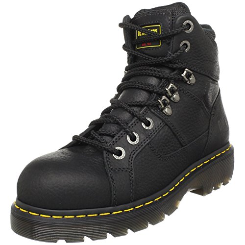 [Dr. Martens Ironbridge Safety Toe Boot,Black,7 UK/9 M US Women's/8 M US Men's] (Dr Martens Work Shoes)