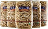 whole grain penne pasta - DeLallo Organic Whole Wheat Penne Rigate #36, 16 Ounce Units (Pack of 16)