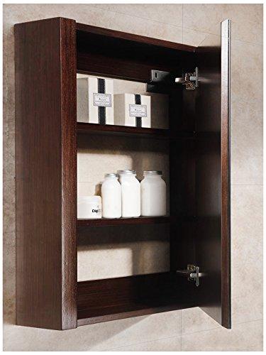 Fine Fixtures MOMC24WE Modena Medicine Cabinet, 24'', Wenge by Fine Fixtures
