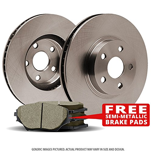 Perfect-Series) 2 Disc Brake Rotors & 4 SemiMet Pads(5lug)-(Ships from USA) (2004 Chevy Blazer Specs)