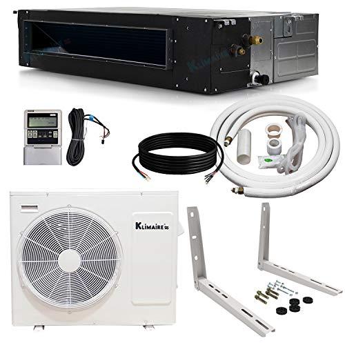 Klimaire 18,000 Btu Light Commercial Ducted Recessed Inverter Heat Pump System 208-230V