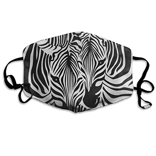 Face Mask Funny Zebra Leopard Print Stylish Cycling Half Face Earloop Nose Mask for Boys ()
