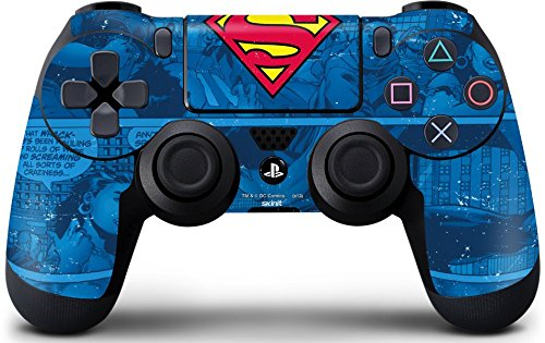 DC Comics Superman PS4 DualShock4 Controller Skin - Superman Logo Vinyl Decal Skin For Your PS4 DualShock4 Controller (Game Controller Protection)