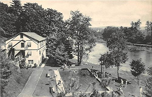 Peggy Runway Lodge Swimming Pool and Kennedy Hall Narrowsburg, New York, Postcard