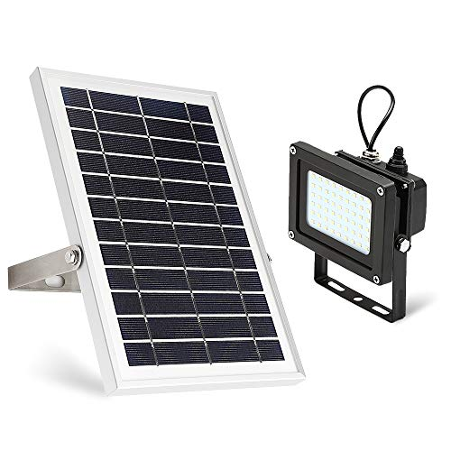 Solar Flood Light,JPLSK Dusk to Dawn 6W Solar Panel 54Leds IP65 Waterproof Solar Powered Flood Light Outdoor Security Light Fixture for Flag Pole,Sign,Garden,Farm, Shed,Pool,Camping,Garage,Auto-on/off