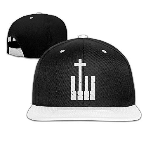 Christian Cross and Piano Keys Unisex Hip-Hop Flat Brim Snapback Caps Contrast Color Baseball Cap for Men