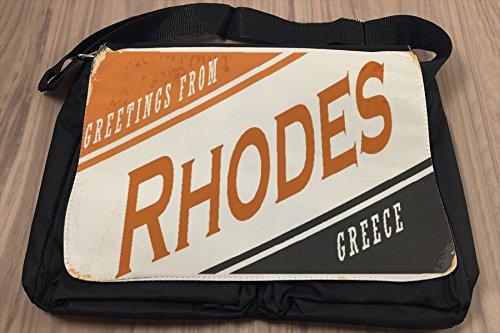 Umhänge Schulter Tasche Fernweh Stadt Rhodos Griechenland bedruckt hHHyWDFXkK