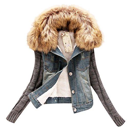 Faux Fur Collar Jacket - 4