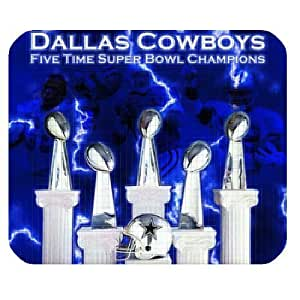 Personalized Diy NFL Dallas Cowboys For SamSung Note 2 Case Cover Standard Rectangle Mousepad MP010906